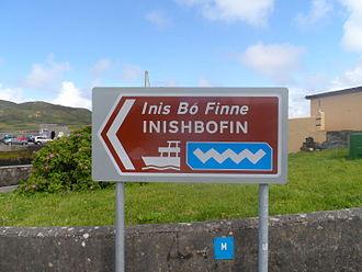 Wild Atlantic Way - Wild Atlantic Way sign in Cleggan