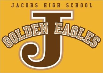 Jacobs High School - Image: Jacobs Golden Eagles Logo