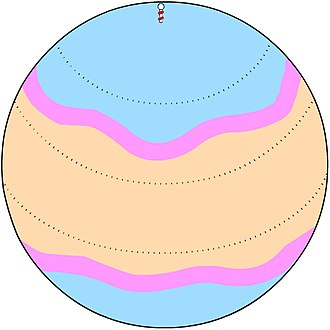 Thermal wind - Jet streams (shown in pink) are well-known examples of thermal wind. They arise from the horizontal temperature gradients between the warm tropics and the colder polar regions.