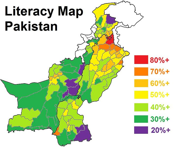 The refugees come from the green-blue area of Sindh (bottom right).