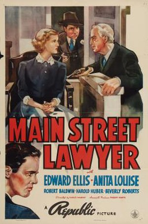 Main Street Lawyer - Theatrical release poster