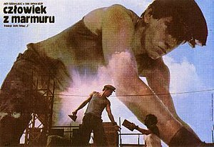 Man of Marble - Polish poster advertising the film