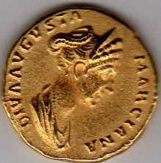 Ulpia Marciana - Marciana on a sestertius of Trajan