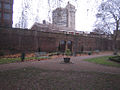 Marshalsea wall from the garden side showing the original gate arches.jpg