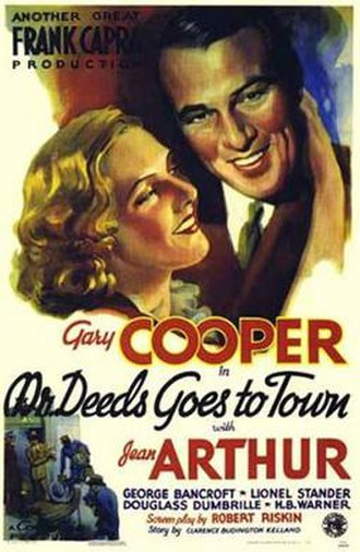 "National Board of Review Awards 1936 - ""Mr. Deeds Goes to Town"" poster"