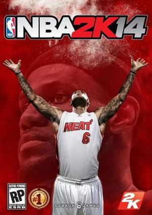 NBA 2K14 - Cover art featuring LeBron James