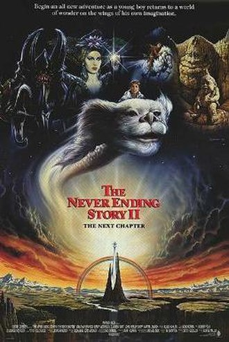 The NeverEnding Story II: The Next Chapter - International theatrical release poster by Renato Casaro