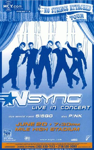 No Strings Attached Tour - Image: Nsync nsatourposter