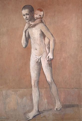 Kunstmuseum Basel - Pablo Picasso, 1905-06, Les deux frères (The two brothers), oil on canvas, 141.4 x 97.1 cm