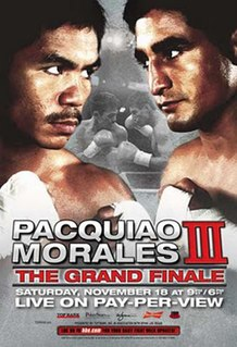Manny Pacquiao vs. Érik Morales III Boxing competition