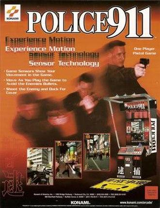 Police 911 - Arcade flyer