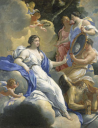Allegory of Prudence by Simon Vouet, part of a decor commissioned by the Queen, c. 1624 (Musée Fabre)