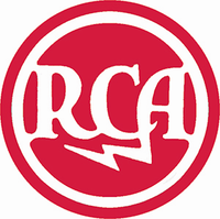 "Original RCA logo, revived by BMG for sound recordings after it bought GE's interest in the record company. Unlike this picture, it was colored red. It was affectionately known as ""the Meatball"" to RCA insiders."