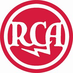 Early RCA logo. This logo and later variations of it was revived by BMG after it purchased RCA Records from GE.