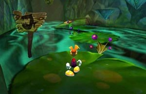 Rayman 2: The Great Escape - Screenshot of the Fairy Glade, the second level of the game