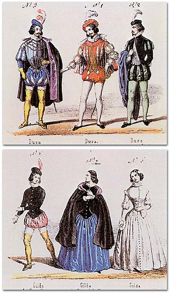File:Rigoletto premiere costumes for the Duke and Gilda.jpg