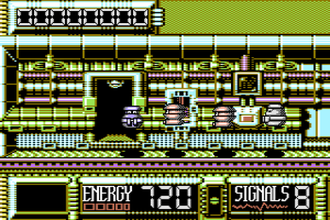 Steel (video game) - In-game screenshot from the first screen of the original Commodore 64 version