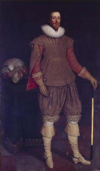 Francis Verney - An oil portrait of Sir Francis Verney prior to his leaving England in 1607–08. It has been on display at Claydon House for over 400 years.