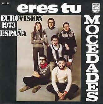 Eres tú - Image: Spain 1973Congratulations