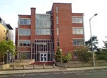 Fotografía del edificio en la ciudad de Dublín que era la antigua casa de Sullivan Bluth Animation Studios.