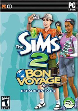 The Sims 2: Bon Voyage box cover