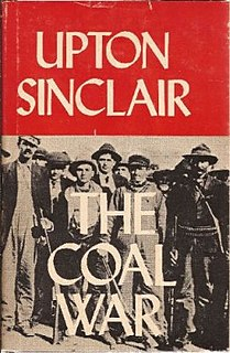 <i>The Coal War</i> novel by Upton Sinclair