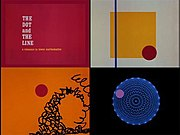 Screenshots from the 1965 animated adaptation of The Dot and the Line.