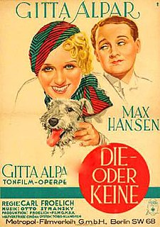 <i>This One or None</i> 1932 film by Carl Froelich