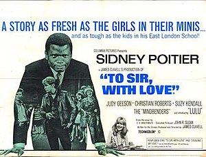 To Sir, with Love - UK theatrical release poster