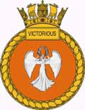 HMS Victorious (S29) - Image: Victorious crest
