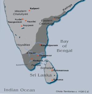 Vikrama Chola - Chola Territories c. 1126 CE