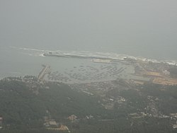 The modern port of Vizhinjam. Vizhinjam was the medieval headquarters of the Ay kingdom