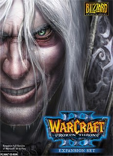 <i>Warcraft III: The Frozen Throne</i> Computer game by Blizzard Entertainment
