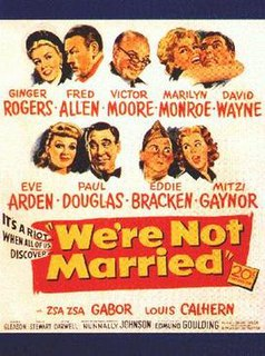 <i>Were Not Married!</i> 1952 film by Edmund Goulding