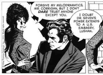 Al Williamson - This Secret Agent Corrigan panel (December 1, 1972) shows Williamson's skill with inking and contrasting techniques.