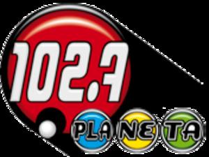 XHRCA-FM - Image: XHRCA Planeta 102.7 logo