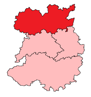 Oswestry (UK Parliament constituency) - Image: 1918 1949 Oswestry
