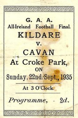 1935 All-Ireland Senior Football Championship Final programme.jpg
