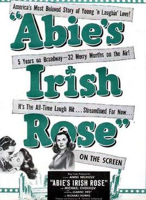 Abie's Irish Rose - Both the Broadway play and the radio series were highlighted in this poster for the 1946 film.