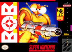 B.O.B. (video game) - Packaging for the Super NES version.