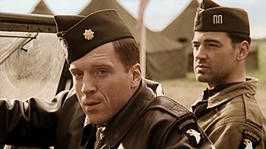 Band of Brothers (miniseries) - From left: Damian Lewis as Major Richard Winters and Ron Livingston as Captain Lewis Nixon.