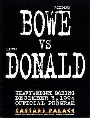 Riddick Bowe vs. Larry Donald - Image: Bowe vs Donald