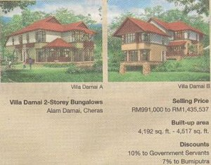 Ketuanan Melayu - Under the NEP, Bumiputra real estate purchases were subsidised.