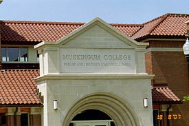 Muskingum's Caldwell Hall was named after alumnus Philip Caldwell and his wife Betsey