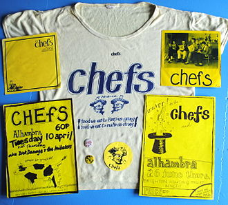 The Chefs - Chefs t-shirt and other ephemera, designed by Helen McCookerybook