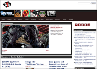 Comics Bulletin website with an emphasis on the American comic book industry