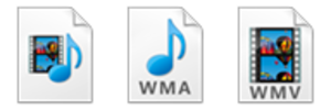 Advanced Systems Format - Image: Computer icons of for ASF, WMA and WMV files