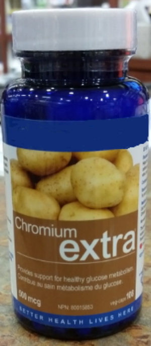 Chromium(III) picolinate - Example of a chromium(III) picolinate supplement that claims to provide healthy glucose metabolism