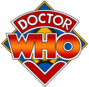 "History of Doctor Who - The Doctor Who ""diamond"" logo, used in the show's opening titles from 1973 to 1980"