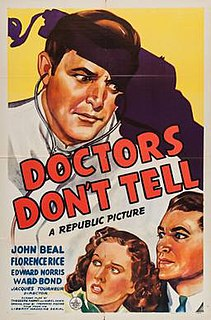 <i>Doctors Dont Tell</i> 1941 film by Jacques Tourneur